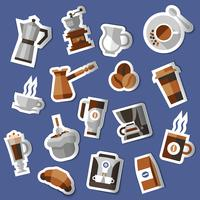 Set di adesivi per il caffè