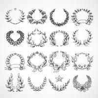 Set di icone araldiche di corona