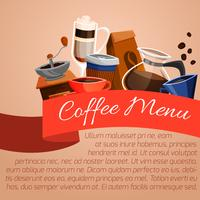 Cartel del menu de cafe