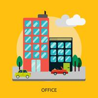 Ilustração conceitual de escritório Design