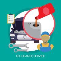 Ilustração conceitual de serviço de mudança de óleo