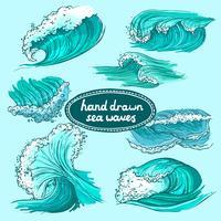 Icônes de vagues colorées