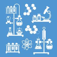 Chemistry decorative icons set