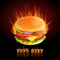 Rindfleisch Hamburger Hintergrund