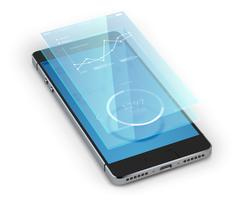 smartphone ui realistisk