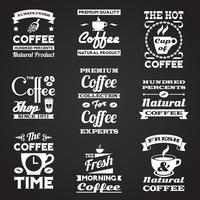Kaffe vintage etiketter uppsättning