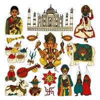 Indien skiss set