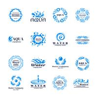 Logo conjunto de agua