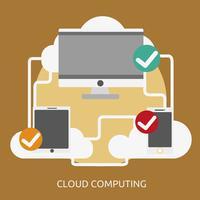 Cloud Computing Conceptuele afbeelding ontwerp