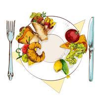 Comida sana y poco saludable.