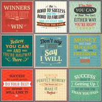 Success quotes colored set