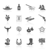 Cowboy ícones preto