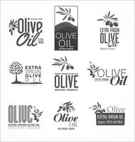 Collection de rétro fond d'or vintage à l'huile d'olive