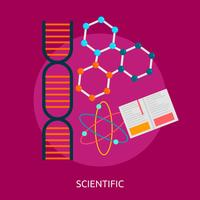Wissenschaftliche konzeptionelle Illustration Design
