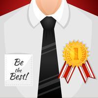Fond gagnant homme d'affaires