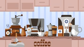 Coffee home concept