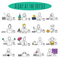 People at office desk vector