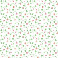 Seamless floral pattern with tiny pink flowers