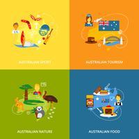 Australien-Ikonen legen flach