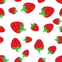 Seamless pattern background with red strawberries. vector