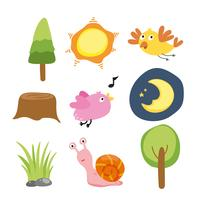nature collection vector design