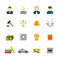 Conjunto de iconos de crimen y castigos