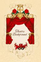 Theatre sketch background vector