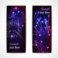 Feuerwerk Banner vertikal