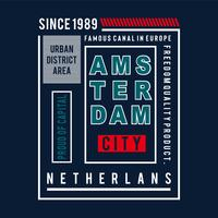 amsterdam city images typography vector