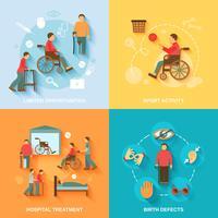 Icônes handicapés mis à plat