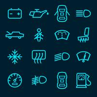 Auto dashboard pictogrammen