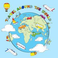 Concept de croquis de voyage