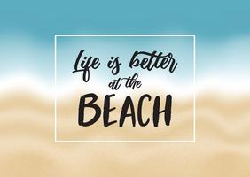 Inspirational beach quote