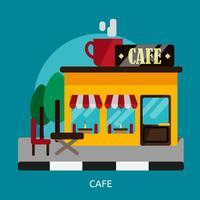 Cafe Konceptuell illustration Design