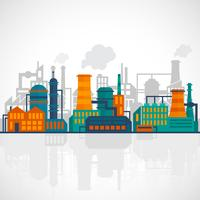 Flat industry background