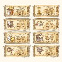 Set di biglietti del cinema