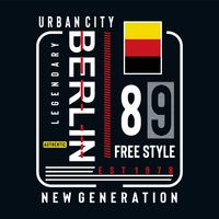 berlin free style typography design