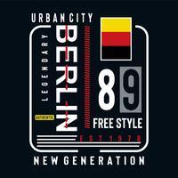 diseño de tipografía de estilo libre de Berlín