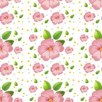 Seamless pink hibiscus wallpaper
