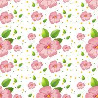 Naadloos roze hibiscusbehang