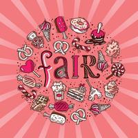 Sweets circle fair concept