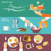 Breakfast banner set