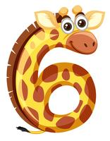Giraffe auf Nummer sechs