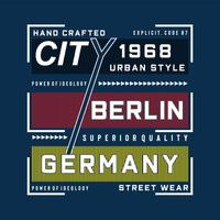 berlin images conception de la typographie tee