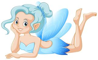 Blue fairy with happy face