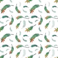 Beautiful nature leaf seamless pattern