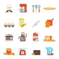 Icona di panetteria piatta