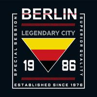 berlin legendary city typography stylish graphics