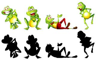 Frogs in four actions