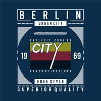 berlin superior quality typography design tee for t shirt